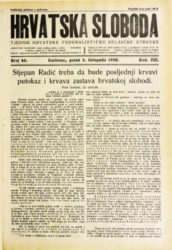 Hrvatska sloboda: 1928. • 40