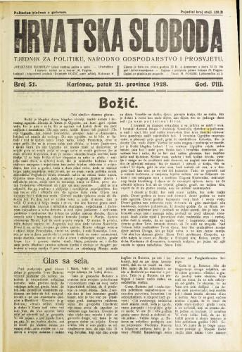 Hrvatska sloboda: 1928. • 51