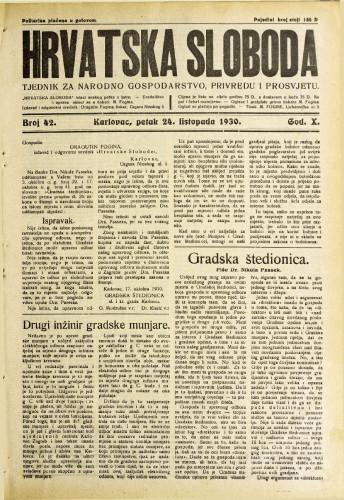 Hrvatska sloboda: 1930. • 42