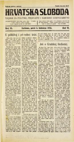 Hrvatska sloboda: 1926. • 32