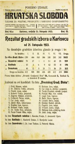 Hrvatska sloboda: 1923 • 42a