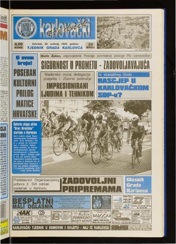 Karlovački tjednik: 1999 • 20