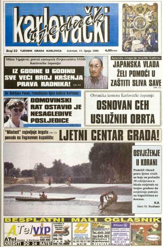 Karlovački tjednik: 2000 • 23