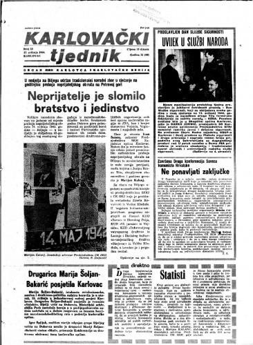 Karlovački tjednik: 1984 • 19