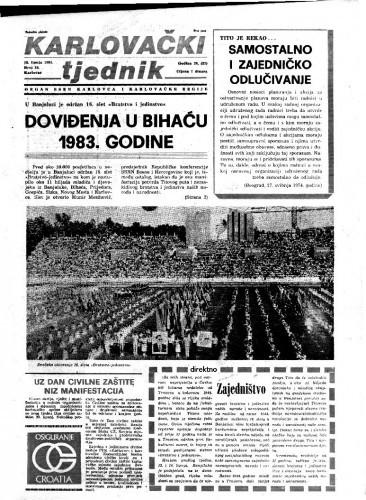 Karlovački tjednik: 1981 • 24