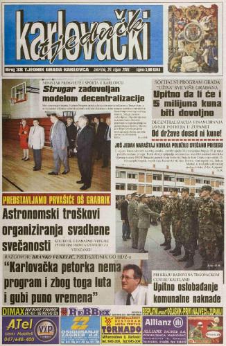 Karlovački tjednik: 2001 • 38