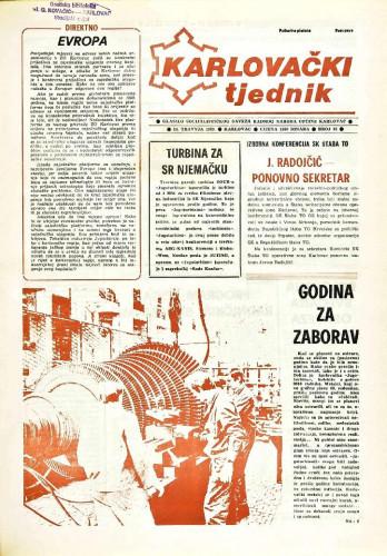 Karlovački tjednik: 1989 • 15
