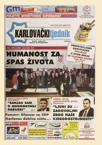Karlovački tjednik: 2007 • 43