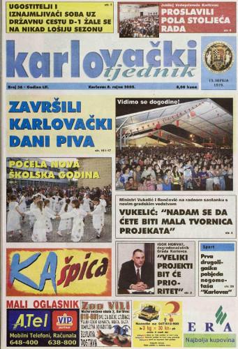Karlovački tjednik: 2005 • 36