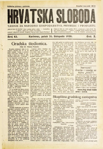 Hrvatska sloboda: 1930. • 43