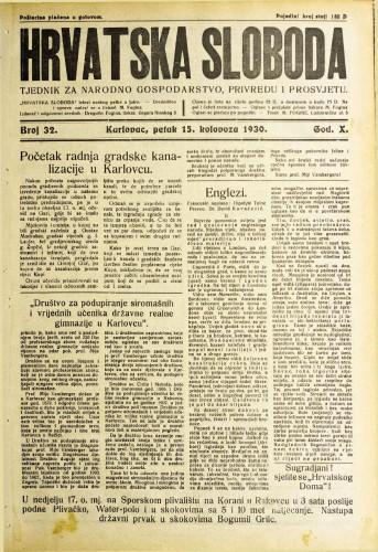 Hrvatska sloboda: 1930. • 32