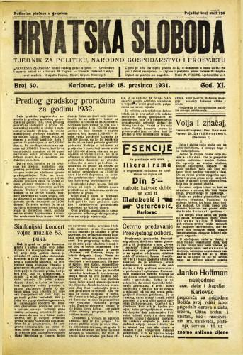 Hrvatska sloboda: 1931. • 50