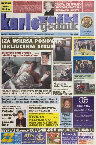 Karlovački tjednik: 2002 • 13