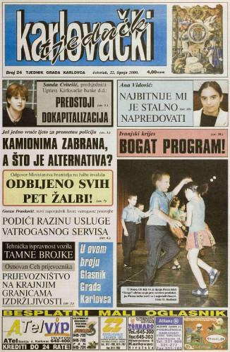 Karlovački tjednik: 2000 • 24