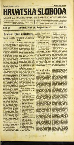 Hrvatska sloboda: 1923 • 43