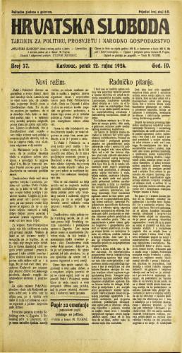Hrvatska sloboda: 1924. • 37