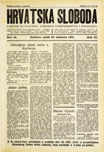 Hrvatska sloboda: 1931. • 34