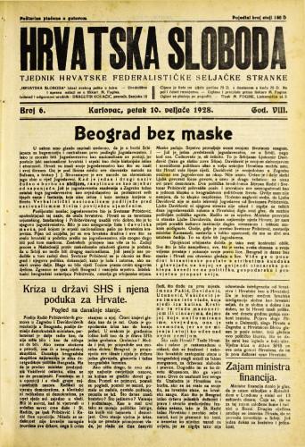 Hrvatska sloboda: 1928. • 6