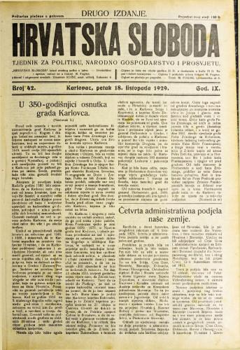 Hrvatska sloboda: 1929. • 42