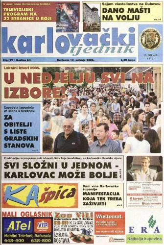 Karlovački tjednik: 2005 • 19