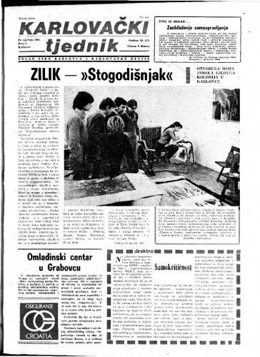 Karlovački tjednik: 1981 • 4
