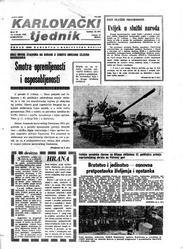 Karlovački tjednik: 1985 • 19