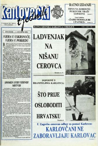 Karlovački tjednik: 1991 • 44