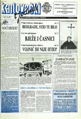 Karlovački tjednik: 1991 • 37