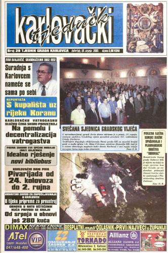 Karlovački tjednik: 2001 • 29