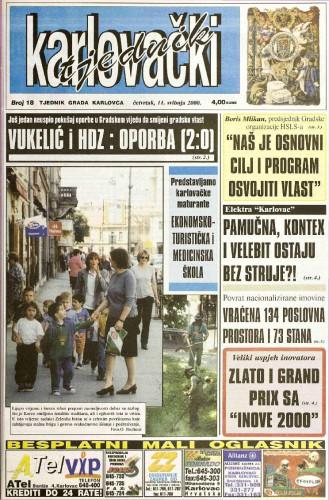 Karlovački tjednik: 2000 • 18