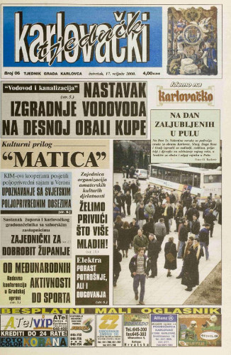 Karlovački tjednik: 2000 • 06