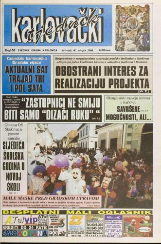 Karlovački tjednik: 2000 • 08