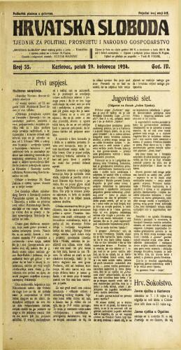 Hrvatska sloboda: 1924. • 35