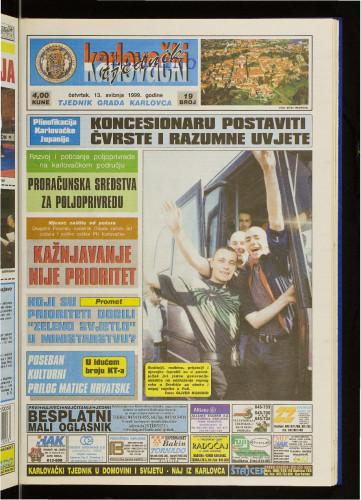 Karlovački tjednik: 1999 • 19