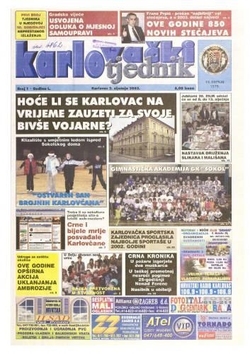 Karlovački tjednik: 2003 • 01