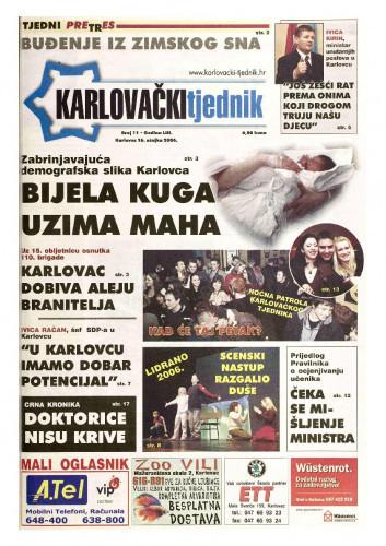 Karlovački tjednik: 2006 • 11