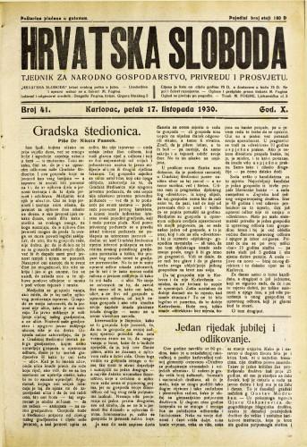 Hrvatska sloboda: 1930. • 41
