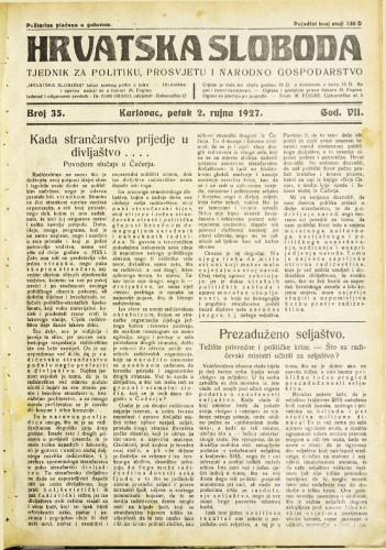Hrvatska sloboda: 1927. • 35