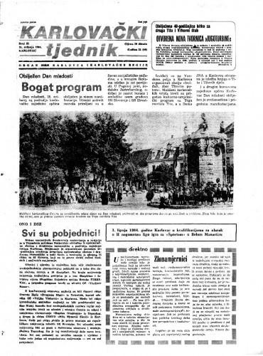 Karlovački tjednik: 1984 • 21