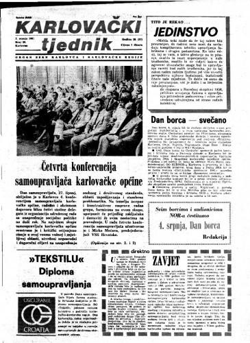 Karlovački tjednik: 1981 • 26