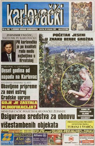 Karlovački tjednik: 2001 • 40