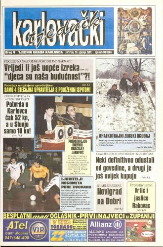 Karlovački tjednik: 2001 • 4