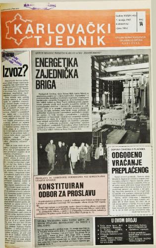Karlovački tjednik: 1987 • 14