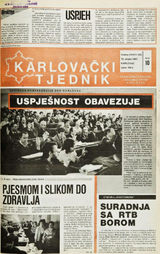 Karlovački tjednik: 1987 • 10