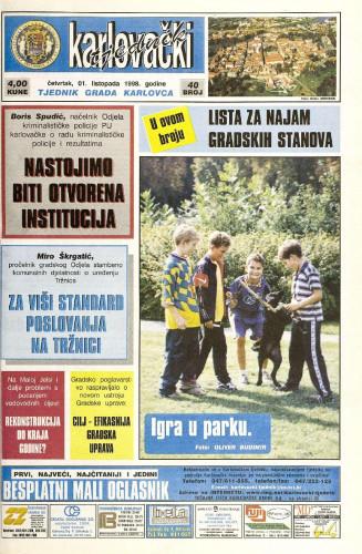 Karlovački tjednik: 1998 • 40