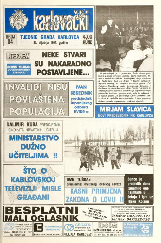 Karlovački tjednik: 1997 • 4