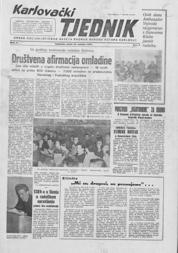 Karlovački tjednik: 1957 • 07