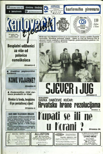 Karlovački tjednik: 1994 • 30