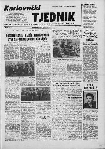 Karlovački tjednik: 1954 • 45