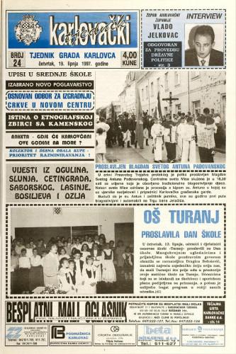 Karlovački tjednik: 1997 • 24